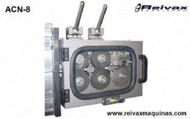 CN wire feeder / Drag box.  Ø 1 to 8 mm. Model ACN-8. Reivax Maquinas.