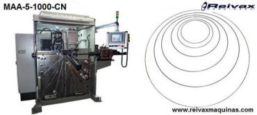 CN Machine to manufacture: Wire rings. Ø 1 to 8 mm. Model MAA-5-1000-CN. Reivax Maquinas.