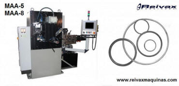 Machine to manufacture: Wire rings. Mode MAA-5. Reivax Maquinas.