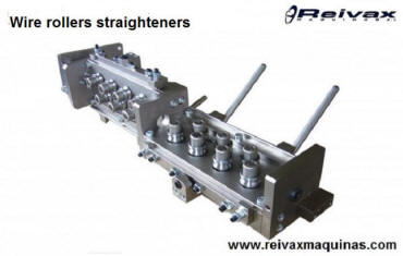 Straighteners: Roller straightener for wire rod. Reivax Maquinas.