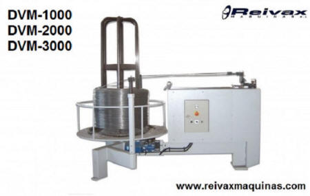 Motorized winders for wire roll. model DVM-1000 from Reivax Maquinas