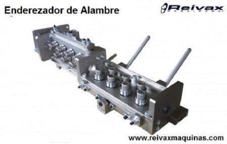 Enderezador de rodillos para varilla de alambre alambre de Reivax Maquinas.