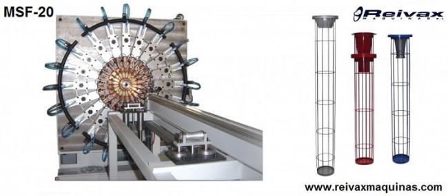 Máquina para fabricar armazones de filtros modelo MSF-20 de Reivax Maquinas.