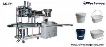 Máquina para fabricar Asas de alambre con inserción a recipiente. AS-R1 de Reivax Máquinas.