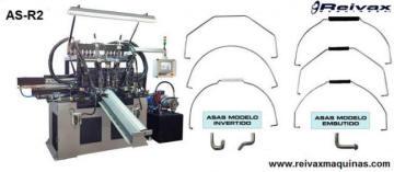 Máquina para fabricar Asas de alambre para recipientes. AS-R2 de Reivax Máquinas.