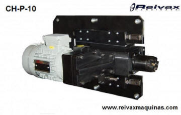 Cabezal para hacer biseles y chaflanes en el extremo de la la varilla de alambre. CH-P-10 de Reivax Máquinas.