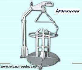 Devanadora estática para rollo de alambre. DVE-1000 de Reivax Maquinas.