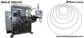Máquina para fabricar Aros de alambre programable. MAA-5 de  Reivax Maquinas.