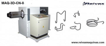 Máquina CN para doblar alambre - Dobladora - 4 cabezales. MAQ-3D-CN-8 de Reivax Máquinas.