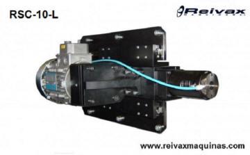 Cabezal para hacer roscas por laminación en extremo de varilla de alambre. RSC-10-L de Reivax Máquinas.