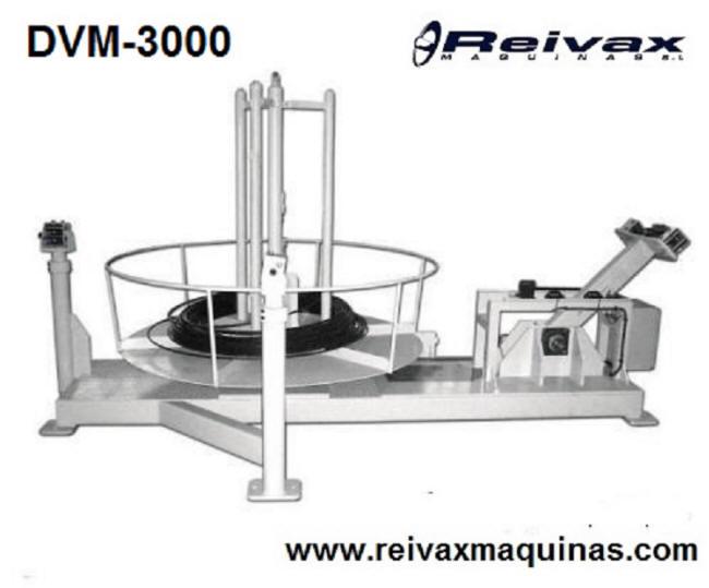 Devanadoras motorizadas para rollo de alambre. DVM-1000 de Reivax Maquinas