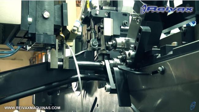 Máquina para fabricar Aros de alambre con y sin soldadura.  Reivax Maquinas.