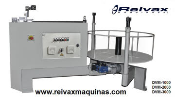 Motorized winders for wire roll. DVM-1000 from Reivax Machines.