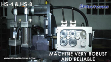 Machine to straighten and cut wire sections to size. HS-4 from Reivax Machines.