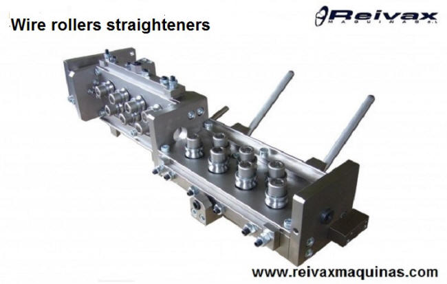 Wire rollers straightener. Straightener from Reivax Machines.