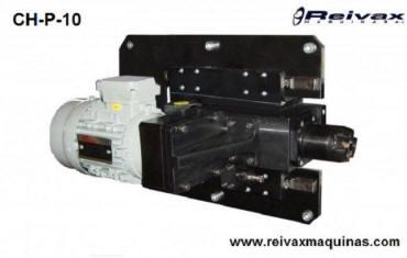 Cabezal para hacer biseles y chaflanes en el extremo de la lavarilla de alambre. Modelo CH-P-10 de Reivax Máquinas.