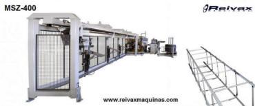 Máquina para fabricar: Armazones para la construcción - Pilares de varilla de alambre. Modelo MSZ-400 de Reivax Maquinas.