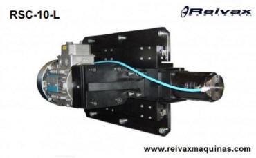 Cabezal para hacer roscas por laminación en el extremo de la varilla de alambre. Modelo RSC-10-L de Reivax Máquinas.