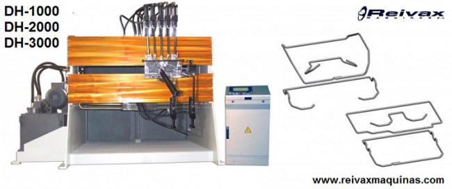 Máquina hidráulica para doblar alambre y fabricar piezas 2D y 3D. Modelo DH-1000 de Reivax Máquinas.