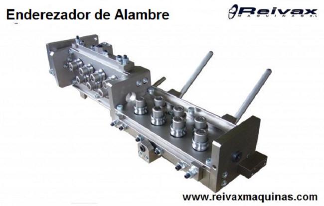Enderezador de rodillos para varilla de alambre alambre de Reivax Maquinas