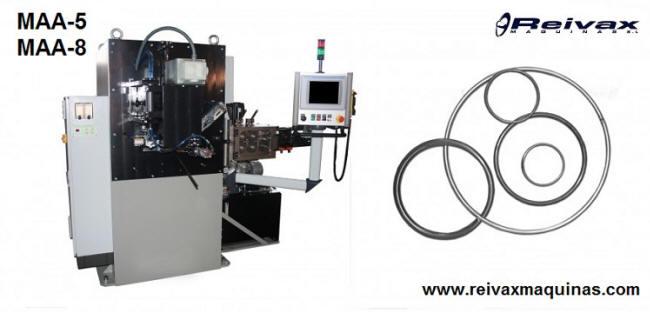 Máquina para fabricar: Aros de alambre. Modelo MAA-5 de Reivax Maquinas.