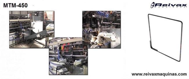 Máquina para fabricar: Armazones para la construcción - Marcos de alambre corrugado. Modelo MTM-450 de Reivax Maquinas.