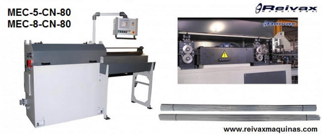 CN Machines for: Straighten and cut custom wire. Model- MEC-5-CN. Reivax Maquinas.